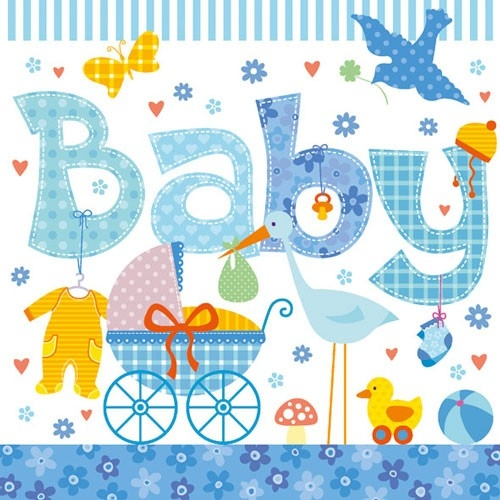 Papierservietten New Born Boy 33x33